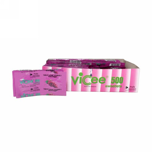 VICEE 500 RASA ANGGUR STRIP 2 TABLET