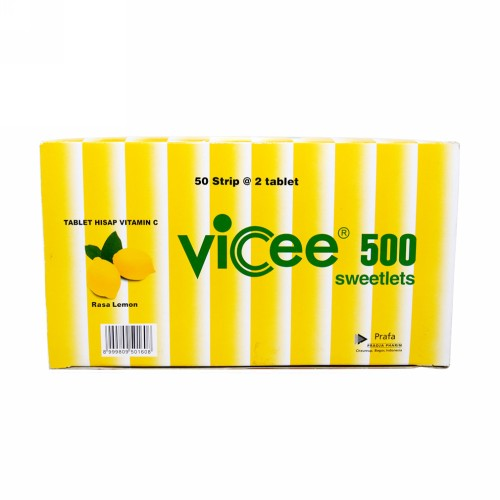 VICEE 500 RASA LEMON STRIP 2 TABLET