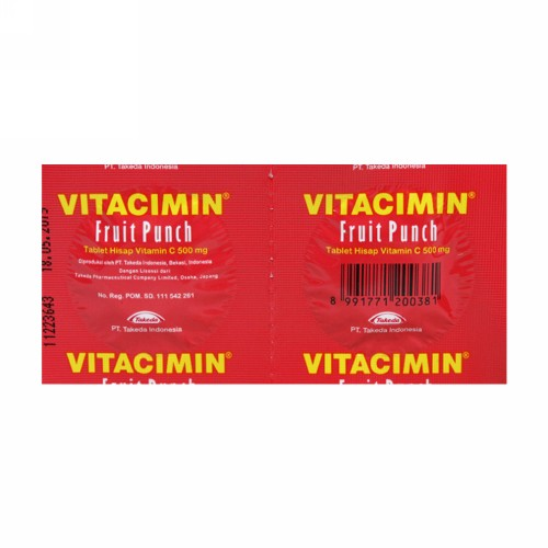 VITACIMIN FRUIT PUNCH STRIP 2 TABLET