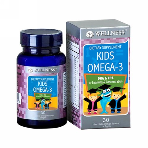 WELLNESS KIDS OMEGA-3 RASA CHOCOLATE-ORANGE BOX 30 KAPSUL