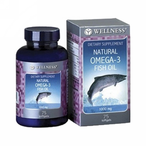 WELLNESS NATURAL OMEGA-3 1000 MG BOX 75 SOFTGEL