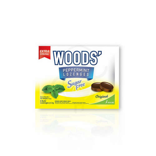 WOODS TABLET HISAP PEPPERMINT SACHET SUGAR FREE