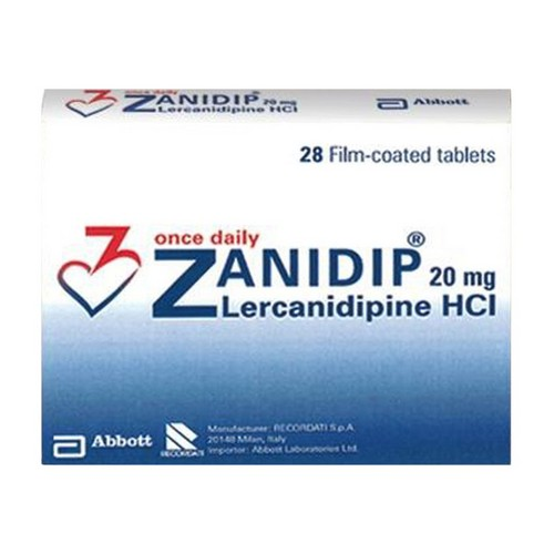 ZANIDIP 20 MG TABLET