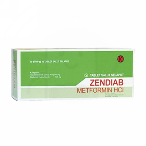 ZENDIAB 500 MG STRIP 10 TABLET