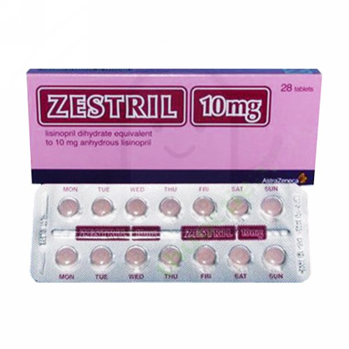 ZESTRIL 10 MG STRIP 14 TABLET