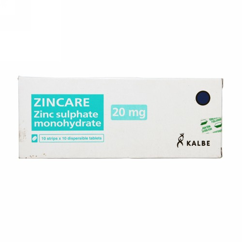 ZINCARE 20 MG BOX 100 TABLET