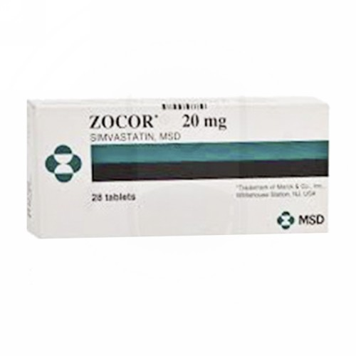 ZOCOR 20 MG TABLET BOX