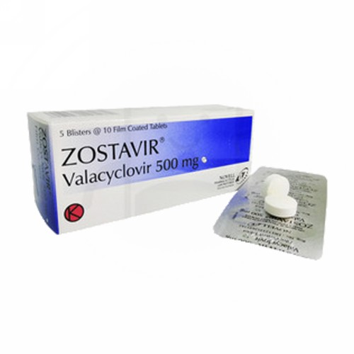 ZOSTAVIR 500 MG STRIP 10 TABLET
