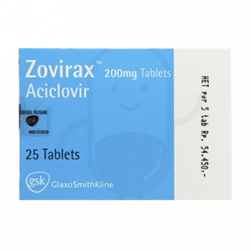 ZOVIRAX 200 MG STRIP 5 TABLET
