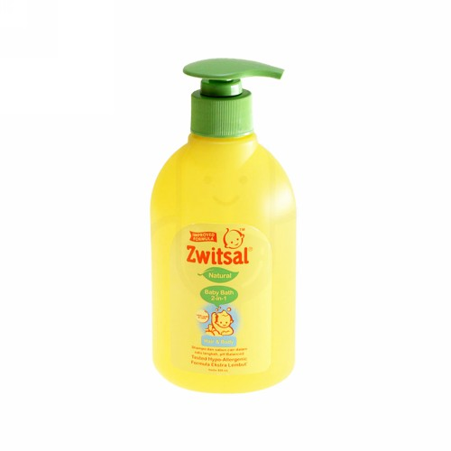 ZWITSAL BABY BATH 2 IN 1 HAIR AND BODY NATURAL 300 ML BOTOL