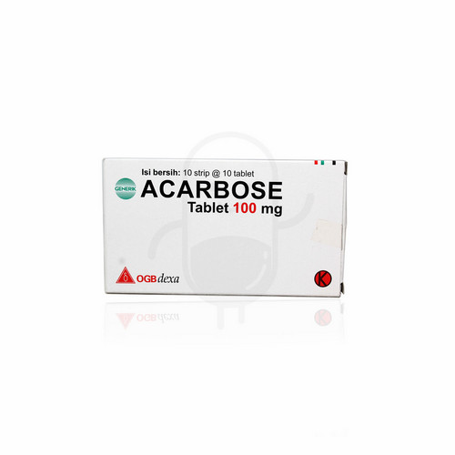 ACARBOSE OGB DEXA MEDICA 100 MG BOX 100 TABLET