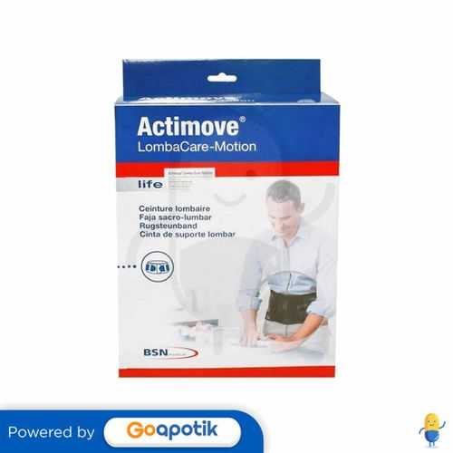 ACTIMOVE LOMBACARE-MOTION BLACK UKURAN L