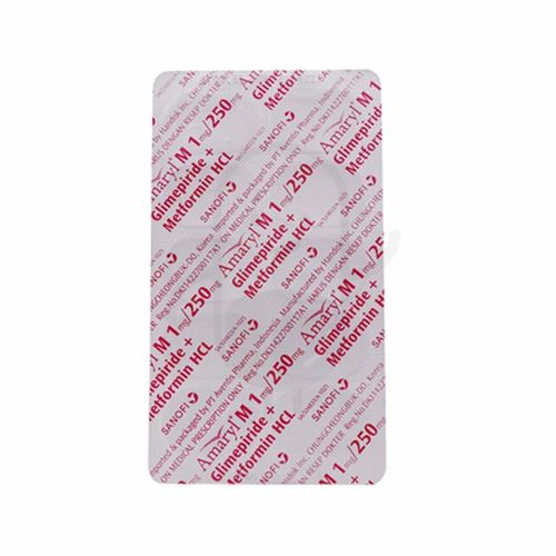 AMARYL-M 1 MG/250 MG BLISTER 10 TABLET