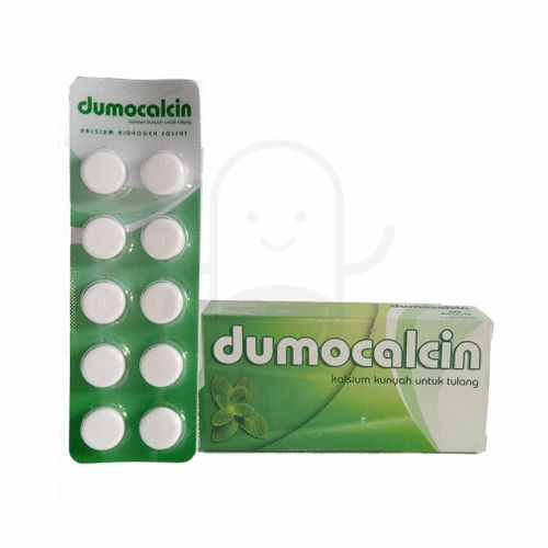 DUMOCALCIN 500 MG RASA PEPPERMINT STRIP 10 TABLET