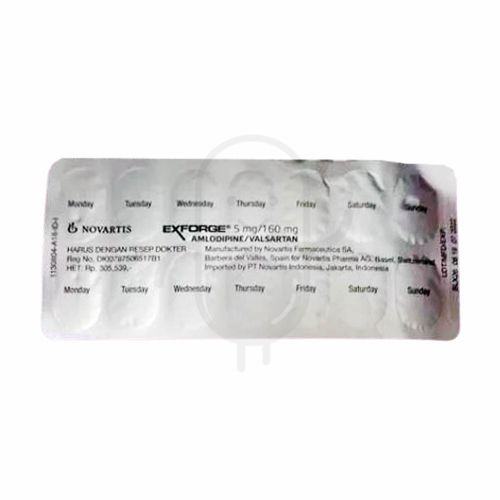EXFORGE 5 MG/160 MG TABLET