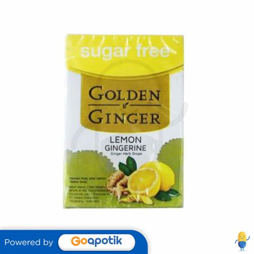 GOLDEN GINGER FLIPTOP SUGAR FREE LEMON GINGERINE 45 GRAM