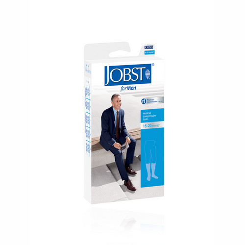 JOBST FORMEN 15-20 KNEE HIGH BLACK UKURAN M