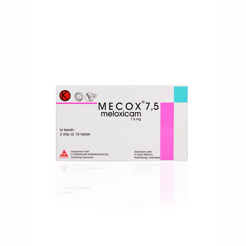MECOX 7,5 MG STRIP 10 TABLET