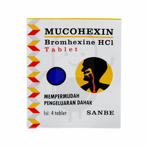 MUCOHEXIN 8 MG STRIP 4 TABLET