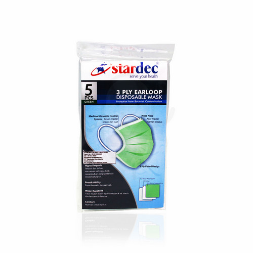 STARDEC 3 PLY SURGICAL MASK EARLOOP BOX
