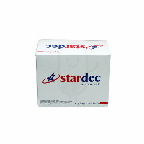 STARDEC 3 PLY SURGICAL MASK TIE ON BOX