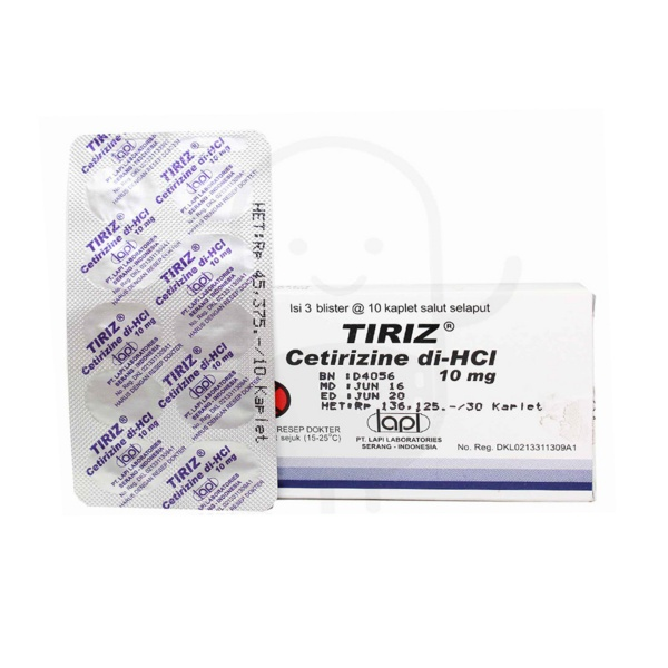 tiriz-10-mg-tablet-box